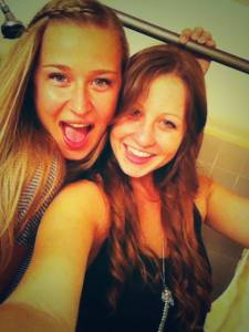 With the roommie, freshman year